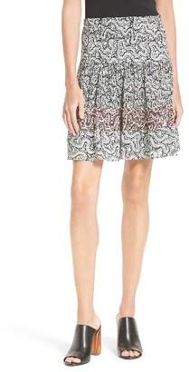 Women's A.l.c. Misha Smocked Silk Skirt $395 thestylecure.com