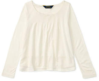 Ralph Lauren Pleat Jersey Top