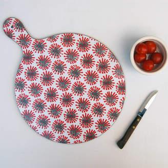 IzziRainey Red Dandelion Chopping Board