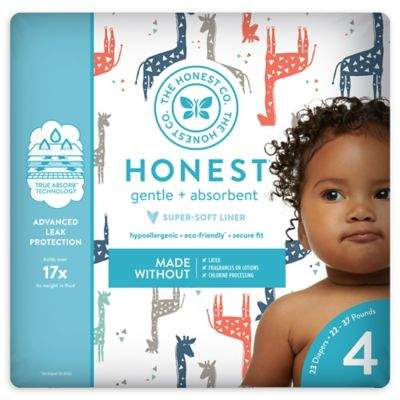 The Honest Company Honest 23-Pack Size 4 Diapers in Multicolored Giraffe Pattern