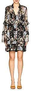 Robert Rodriguez Women's Floral Silk Chiffon Shift Dress - Black