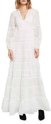 BCBGMAXAZRIA Silk Kalli Embroidered Floral-Lace Gown