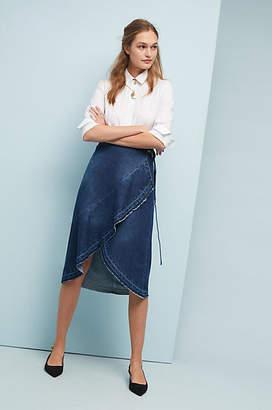 Ottod'Ame Turner Denim Wrap Skirt