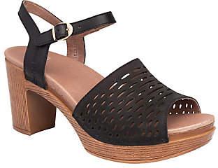 Dansko Open-Toe Block Heeled Leather Sandals -Denita