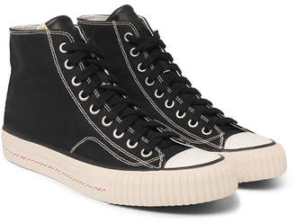 Visvim Skagway Canvas High-Top Sneakers - Black