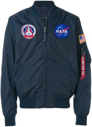 Alpha Industries Nasa patch bomber jacket