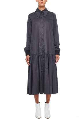 Tibi Tech Poplin Shirtdress