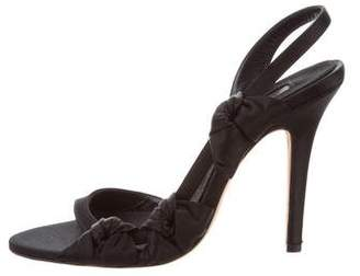 Giambattista Valli Satin Slingback Sandals