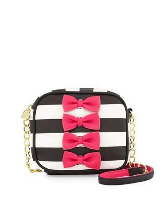 Betsey Johnson Petite Chic Bow Camera Crossbody Bag, Fuchsia $50 thestylecure.com