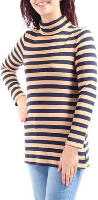 Tommy Hilfiger 50 Womens New 1203 Striped Long Sleeve Top L B+B