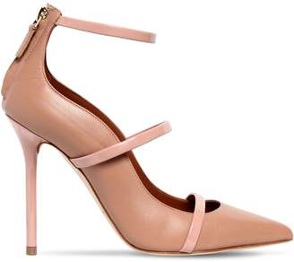 Malone Souliers 100mm Robyn Straps Leather Pumps