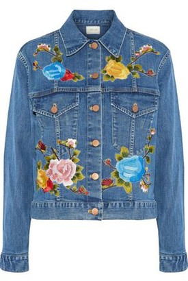 Alice + Olivia Ao.la By Chloe Embroidered Denim Jacket