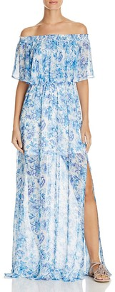 Show Me Your MuMu Hacienda Floral Print Off the Shoulder Dress $172 thestylecure.com