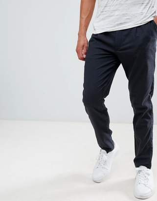 Selected PANTS With Pleated Waistband In Tapered Fit
