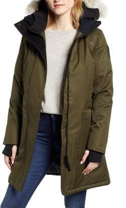 NOBIS Meredith Hooded Down Parka with Genuine Coyote Fur Trim