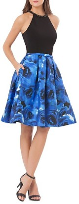 Women's Carmen Marc Valvo Infusion Fit & Flare Dress $318 thestylecure.com