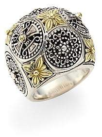 Konstantino Penelope Sterling Silver& 18K Yellow Gold Ring