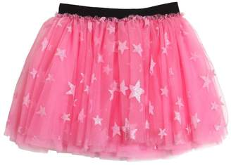 Glittered Layered Stretch Tulle Skirt