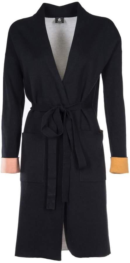 Contrast Cuffs Cardi-coat