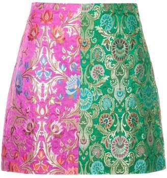 Romance Was Born Harlequin Brocade skirt