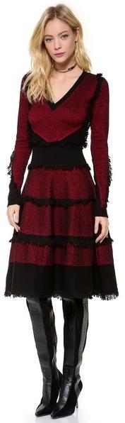 McQ by Alexander McQueen Alexander McQueen Tweed Flirty Dress
