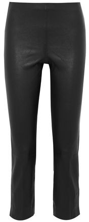 Buy Cropped Leather Skinny Pants!