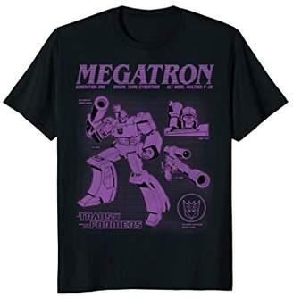 Hasbro Transformer Megatron Blueprint T-Shirt