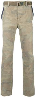 Sacai camouflage print trousers