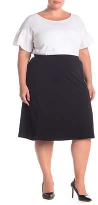 14th & Union Textured Knit Midi Skirt (Plus Size)