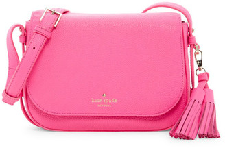 kate spade new york Orchard Street Penelope Tassel Leather Crossbody Bag $328 thestylecure.com