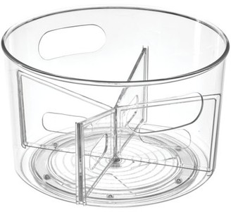 InterDesign Linus Divided Spinner with Handles, Clear