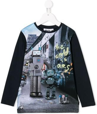 Molo Kids Robots print T-shirt