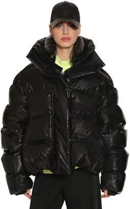 Juun.J Oversized Shiny Nylon Down Jacket