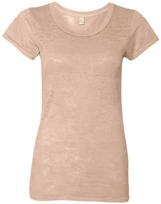 Alternative Womens Perfect Fit Burnout Crew T-Shirt