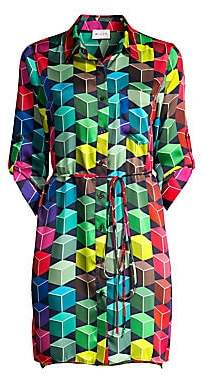 Milly Women's Abstract Twill Shirtdress
