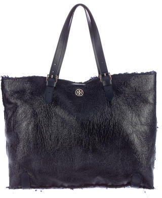 Tory Burch Tory Burch Patent Shearling East West Tote