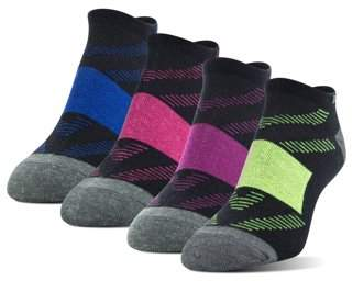 Athletic Works Women's Wool Ultralite No Show Socks, 4 Pairs
