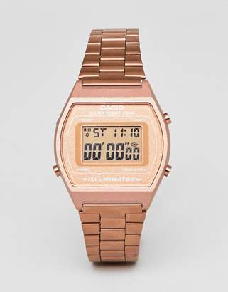 Casio B640WC-1FR Digital Bracelet Watch In Rose Gold
