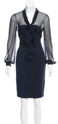 Valentino Long Sleeve Knee-Length Dress w/ Tags