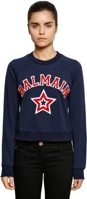 Balmain (バルマン) - BALMAIN クロップドジャージースウェットシャツ