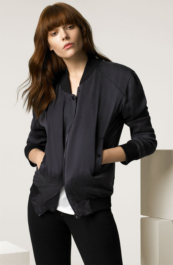 Alexander Wang Washed Crepe Back Satin Jacket