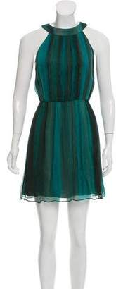 Alice + Olivia Sleeveless Mini Silk Dress