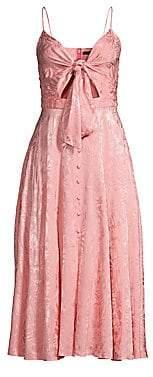 Jay Godfrey Women's Sheila Tie Front Cutout Dress