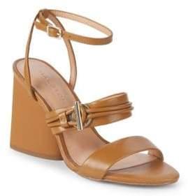 Halston Sola Heeled Leather Sandals