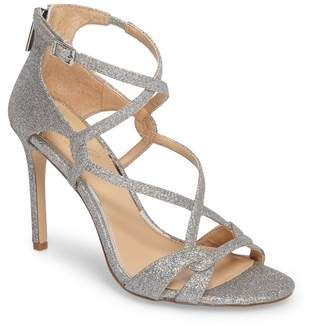Badgley Mischka Aliza Strappy Glitter Sandal