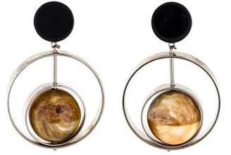 Marni Horn & Resin Sphere Clip-On Earrings