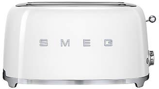 Smeg TSF02 4-Slice 2-Slot Toaster, White