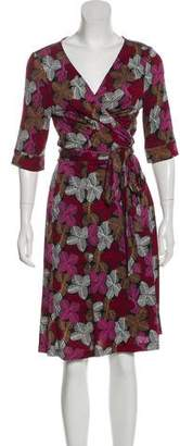 Diane von Furstenberg Long Sleeve Midi Wrap Dress