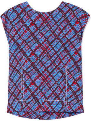 Marni Printed Crepe Top - Blue