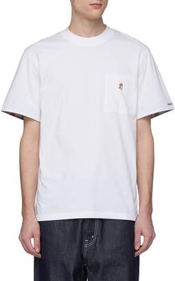 MAISON KITSUNÉ Fox appliqué chest pocket T-shirt